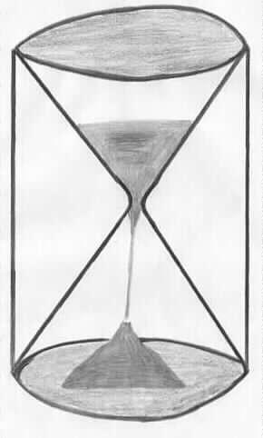 Sanduhr gezeichnet  Sanduhr